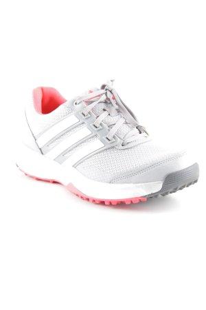 Adidas Schnürsneaker hellgrau-neonrot sportlicher Stil