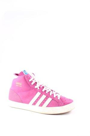 Adidas Schnürsneaker lila-weiß sportlicher Stil