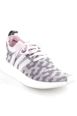 Adidas Schnürsneaker rosa-schwarz abstraktes Muster sportlicher Stil