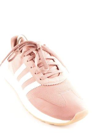 Adidas Basket à lacet rose-blanc style décontracté