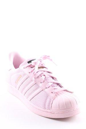 Adidas Schnürsneaker rosé-hellrosa Streifenmuster sportlicher Stil