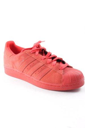 Adidas Sneaker stringata rosso stile casual