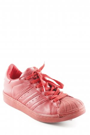 Adidas Lace-Up Sneaker red urban style