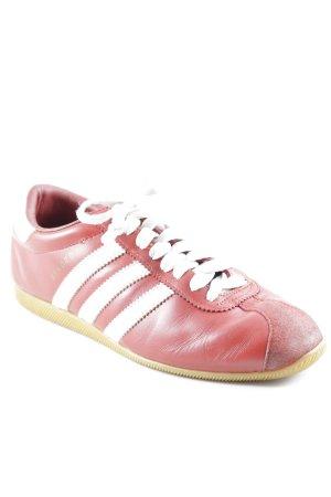 Adidas Sneaker stringata rosso-bianco stile casual