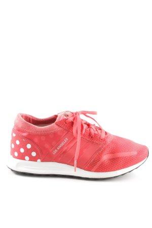 Adidas Schnürsneaker rot-weiß Punktemuster sportlicher Stil
