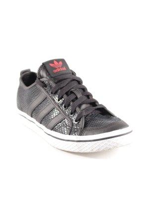 Adidas Sneaker stringata nero motivo animale stile atletico