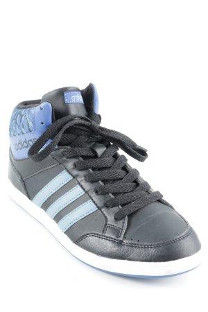 Adidas Schnürsneaker schwarz-blau Mustermix sportlicher Stil