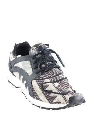 Adidas Schnürsneaker schwarz-creme grafisches Muster Casual-Look