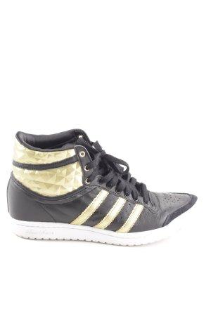 Adidas Sneakers met veters zwart-goud casual uitstraling