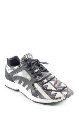 Adidas Schnürsneaker schwarz-hellbeige abstraktes Muster Casual-Look