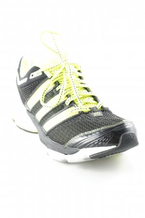 Adidas Lace-Up Sneaker black-neon yellow athletic style