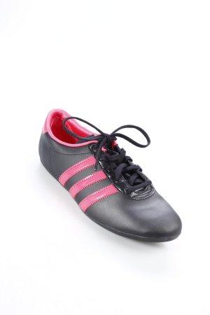 Adidas Schnürsneaker schwarz-pink Retro-Look