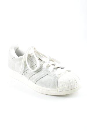 Adidas Basket à lacet blanc-gris vert style décontracté