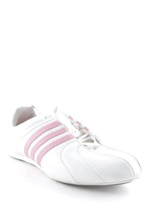 Adidas Schnürsneaker weiß-rosa sportlicher Stil