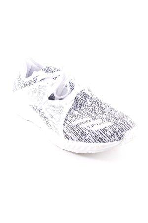 Adidas Schnürsneaker weiß-schwarz abstraktes Muster sportlicher Stil