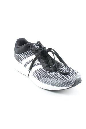 Adidas Schnürsneaker weiß-schwarz grafisches Muster Casual-Look