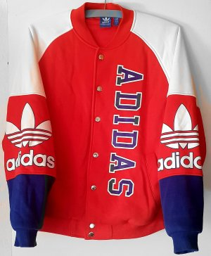Adidas College Jacket brick red-blue