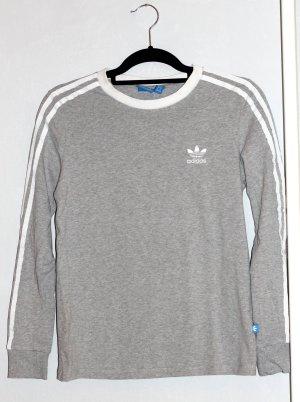 Adidas Originals Manica lunga grigio chiaro-bianco