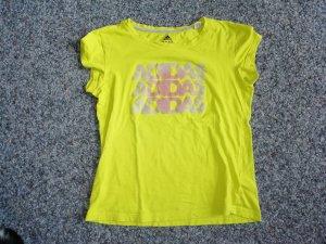 Adidas T-shirt de sport vert prairie-jaune fluo
