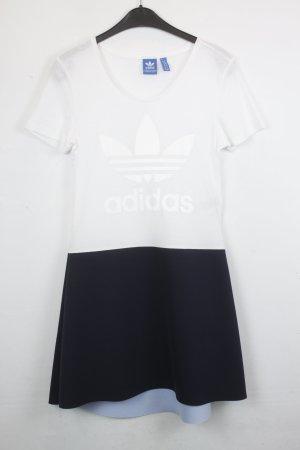 Adidas Shirt Kleid Gr. S Schwarz / Weiß (18/5/292)