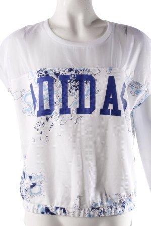 Adidas Shirt weiß-blau