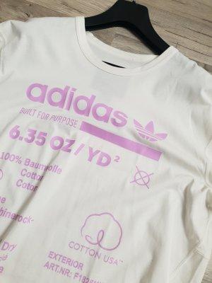Adidas T-shirt bianco-rosa