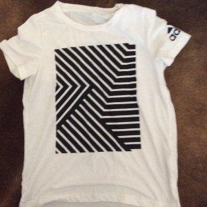 Adidas Shirt weiß schwarz XS