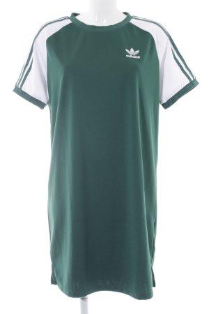 Adidas Shirtkleid weiß-waldgrün sportlicher Stil
