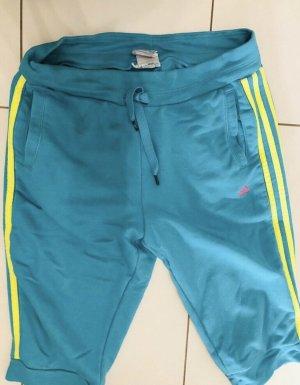 Adidas Pantalon de sport turquoise-jaune fluo