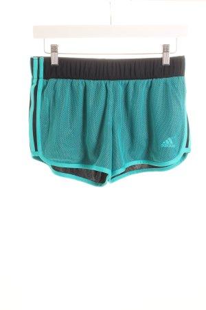 Adidas Shorts schwarz-türkis sportlicher Stil