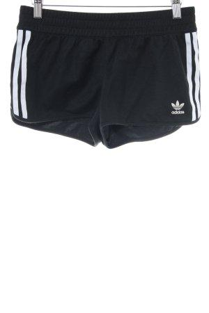 Adidas Shorts schwarz-weiß Casual-Look