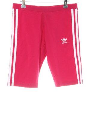 Adidas Shorts weiß-magenta Casual-Look