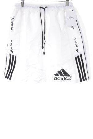 Adidas Shorts weiß-schwarz sportlicher Stil