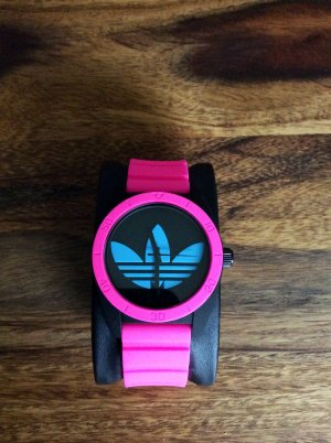Adidas, Silikon-Banduhr, pink, neu