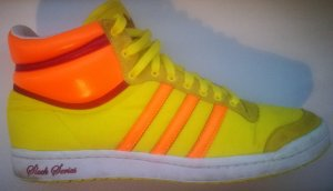 ADIDAS SLEEK SERIES Damensneaker gelb/ orange Gr. 39 - 40