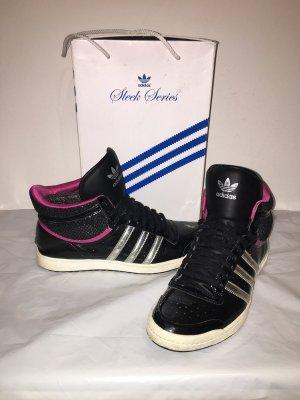 Adidas Sleek Series High Sneaker Schuhe Gr. 42 silber pink schwar