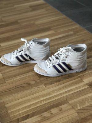 Adidas Zapatillas altas blanco-violeta oscuro