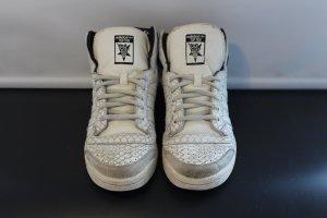 Adidas Originals Sneaker alta nero-bianco sporco Pelle