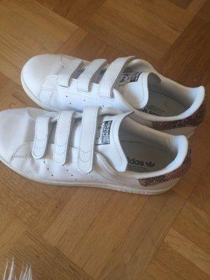 Adidas Basket velcro blanc-brun