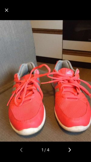 Adidas Lace-Up Sneaker neon red