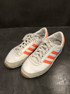 Adidas Sneaker stringata bianco-arancio neon