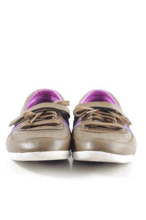Adidas Sneaker Klettverschluss bronzefarben-lila Streifenmuster Casual-Look