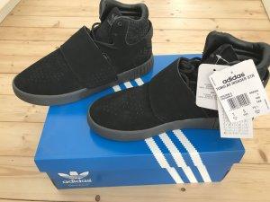 Adidas Basket velcro noir daim