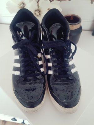 Adidas Sneaker Turnschuhe Sportschuhe Schwarz Weiß Lack 40