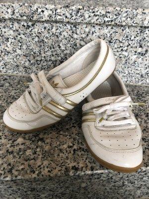Adidas Sneaker weiß-Gold Gr.37,5