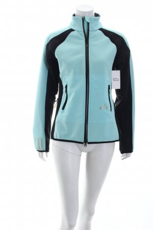Adidas Softshell Jacket baby blue-black color blocking athletic style