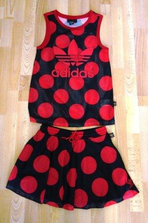 Adidas Mini Abito rosso-nero