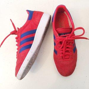 Adidas Spezial Rot blau 39 1/3 Leder Suede Handball Spazial Gazelle Sneakers Turnschuhe
