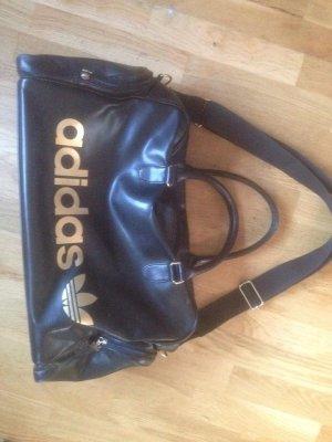 Adidas Sport/Reise Tasche in schwarz gold