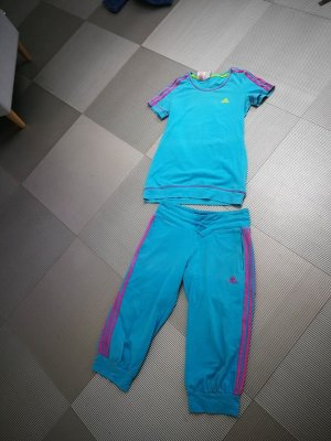 Adidas Completo sportivo magenta-turchese Cotone